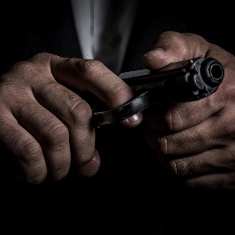Gun in hands